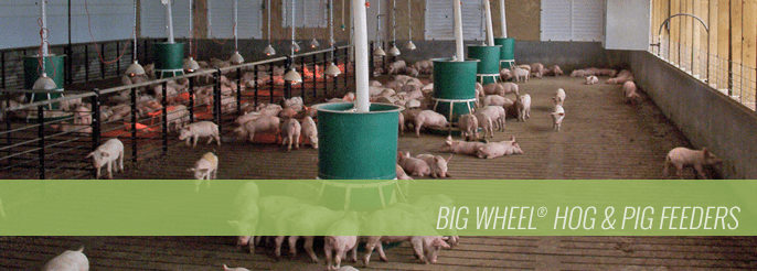 Big Wheel Hog and Pig Feeders