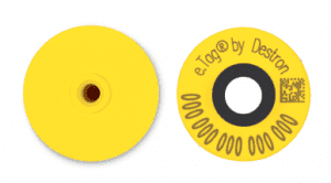 Non Tamper Yellow Swine RFID Tags